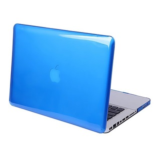 MacBook Air 13.3 inch - Laptoptas - Clear Hardcover - Blauw