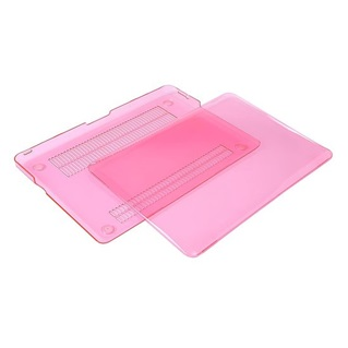MacBook Pro Retina 15.4 inch - Laptoptas - Clear Hardcover - Pink - Roze