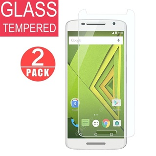 Screenprotector Tempered Glas folie voor Moto X play Duo Pack/2 stuks