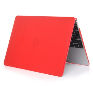 Macbook Air 11.6 inch - Laptoptas - Matte Hardcover - Rood